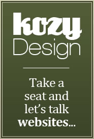 Kozy Design - Take a seat and let's talk websites